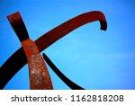 Rusty Iron Sculpture Of Dancer...
