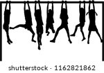 silhouettes athletic children. | Shutterstock .eps vector #1162821862