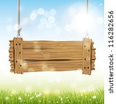spring vector background with... | Shutterstock .eps vector #116282656