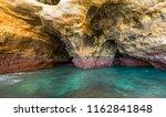 algarve seashore and caves.... | Shutterstock . vector #1162841848