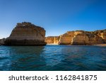 algarve seashore and caves.... | Shutterstock . vector #1162841875