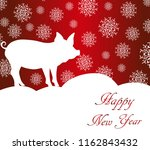 greeting cards with a christmas ... | Shutterstock .eps vector #1162843432