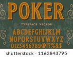 font handcrafted typeface... | Shutterstock .eps vector #1162843795