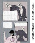 comic scene illustration | Shutterstock . vector #1162850038