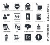 set of 16 icons such as trade...