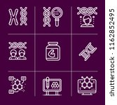 simple set of 9 outline icons... | Shutterstock .eps vector #1162852495