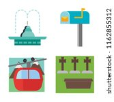set of 4 vector icons such as... | Shutterstock .eps vector #1162855312