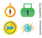 set of 4 vector icons such as... | Shutterstock .eps vector #1162856752