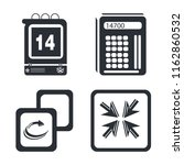set of 4 vector icons such as... | Shutterstock .eps vector #1162860532