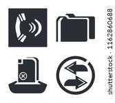 set of 4 vector icons such as... | Shutterstock .eps vector #1162860688