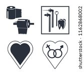 set of 4 vector icons such as...   Shutterstock .eps vector #1162868002