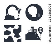 set of 4 vector icons such as... | Shutterstock .eps vector #1162868005