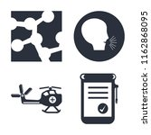 set of 4 vector icons such as... | Shutterstock .eps vector #1162868095