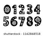 vector hand drawn folk tribal... | Shutterstock .eps vector #1162868518