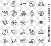 set of 25 transparent icons... | Shutterstock .eps vector #1162868845