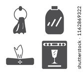 set of 4 vector icons such as...   Shutterstock .eps vector #1162869322
