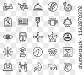 set of 25 transparent icons... | Shutterstock .eps vector #1162870378