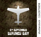 6th september. happy defence... | Shutterstock .eps vector #1162870858