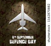 6th september. happy defence... | Shutterstock .eps vector #1162870882