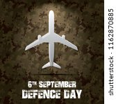 6th september. happy defence... | Shutterstock .eps vector #1162870885