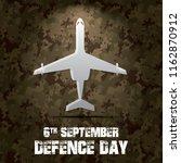 6th september. happy defence... | Shutterstock .eps vector #1162870912