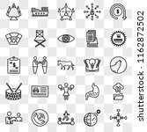 set of 25 transparent icons... | Shutterstock .eps vector #1162872502