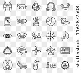 set of 25 transparent icons... | Shutterstock .eps vector #1162872508