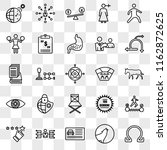set of 25 transparent icons... | Shutterstock .eps vector #1162872625
