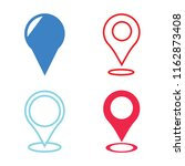 set of 4 vector icons such as... | Shutterstock .eps vector #1162873408