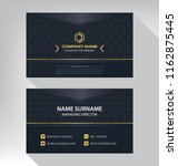 business model name card luxury ... | Shutterstock .eps vector #1162875445