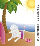 adirondack,adirondack chair,adirondack chairs,beach,beach chair,beach towel,beach towels,cocktail,cocktail glass,ocean,ocean horizon,ocean waves,palm beach,palm tree,palm tree vector