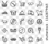 set of 25 transparent icons... | Shutterstock .eps vector #1162879465