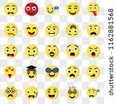 set of 25 transparent icons... | Shutterstock .eps vector #1162881568