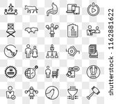 set of 25 transparent icons... | Shutterstock .eps vector #1162881622