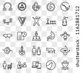 set of 25 transparent icons... | Shutterstock .eps vector #1162881712
