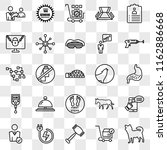 set of 25 transparent icons... | Shutterstock .eps vector #1162886668