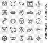 set of 25 transparent icons... | Shutterstock .eps vector #1162887922