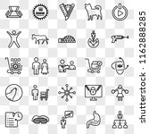 set of 25 transparent icons... | Shutterstock .eps vector #1162888285