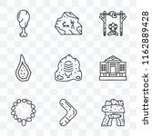 set of 9 transparent icons such ... | Shutterstock .eps vector #1162889428