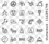 set of 25 transparent icons... | Shutterstock .eps vector #1162891798