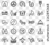 set of 25 transparent icons... | Shutterstock .eps vector #1162892668