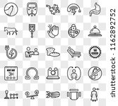 set of 25 transparent icons... | Shutterstock .eps vector #1162892752