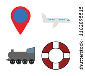 set of 4 vector icons such as... | Shutterstock .eps vector #1162895515