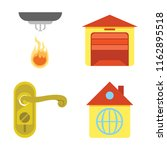 set of 4 vector icons such as... | Shutterstock .eps vector #1162895518