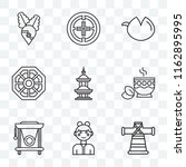 set of 9 transparent icons such ... | Shutterstock .eps vector #1162895995