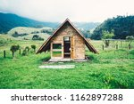 samll tiny house on a camping... | Shutterstock . vector #1162897288