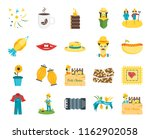 set of 20 icons such as festa...