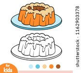coloring book for children  cake | Shutterstock .eps vector #1162903378
