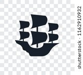 caravel vector icon isolated on ... | Shutterstock .eps vector #1162910932