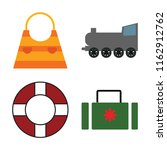 set of 4 vector icons such as... | Shutterstock .eps vector #1162912762